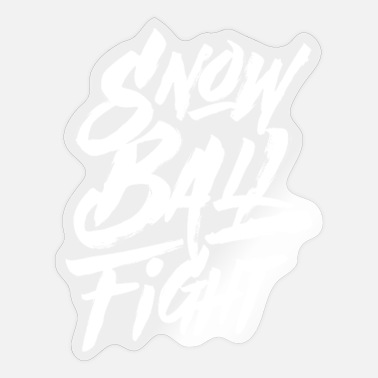 Winter Games Snow Snowballs Snowball Fight Winter Game - Sticker