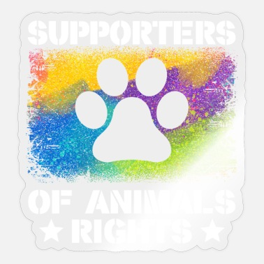 Animal Rights Supporters Of Animals Rights - Sticker