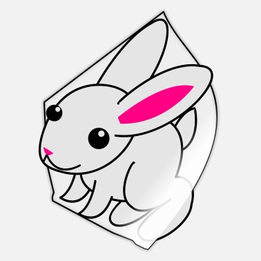 White Rabbit white rabbit cute - Sticker