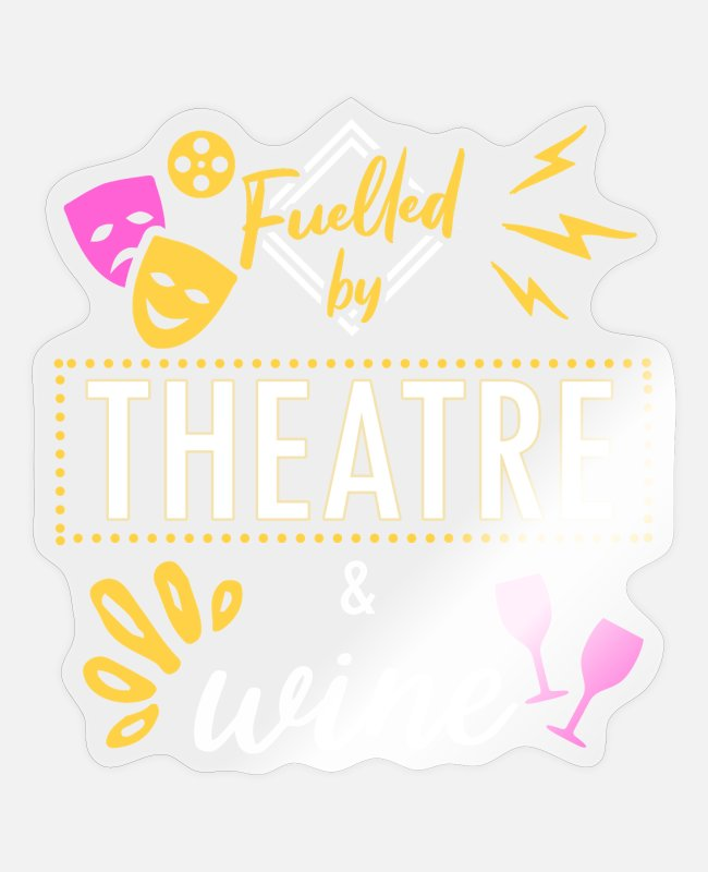 Wine Stickers - Theatre and wine - Sticker transparent glossy