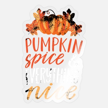 Pumpkin Spruch October Autumn November - Sticker