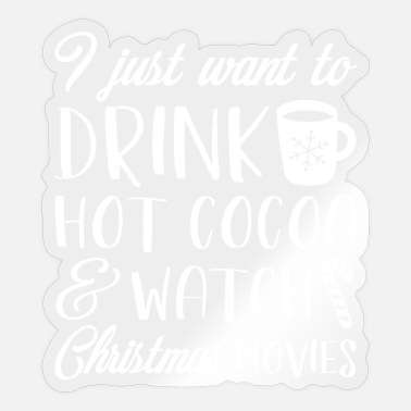 Movies Hot Cocoa Hot Cocoa Christmas Movies - Sticker