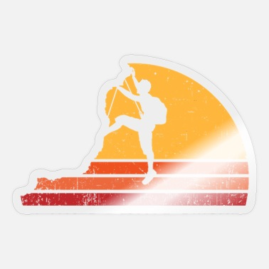 Climber Distressed Retro Rock Climber - Sticker