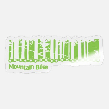 Mountain Mountain Bike Rider - Sticker
