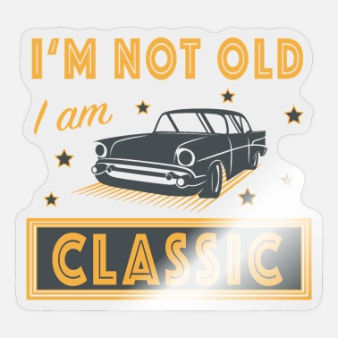 Classic Car Mechanic Restoring classic car classic - Sticker