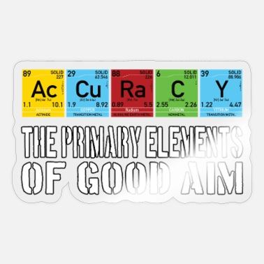 Accuracy Nerd Geek funny aiming gamer elements - Sticker