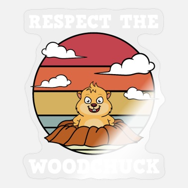 Whistler Canada Respect The Woodchuck - Sticker