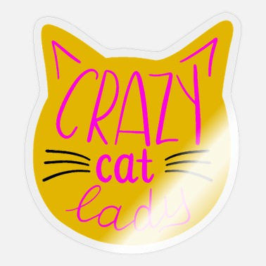 Crazy Cat Lady crazy cat lady - Sticker