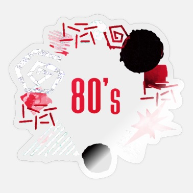 80s 80s retro 80's party vintage party 80's - Sticker