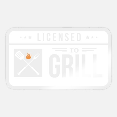 License Licensed To Grill - Sticker