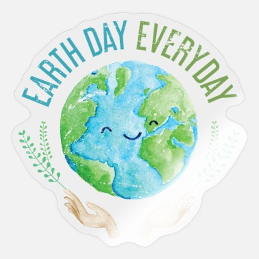 Earth Earth Day Every Day - Sticker