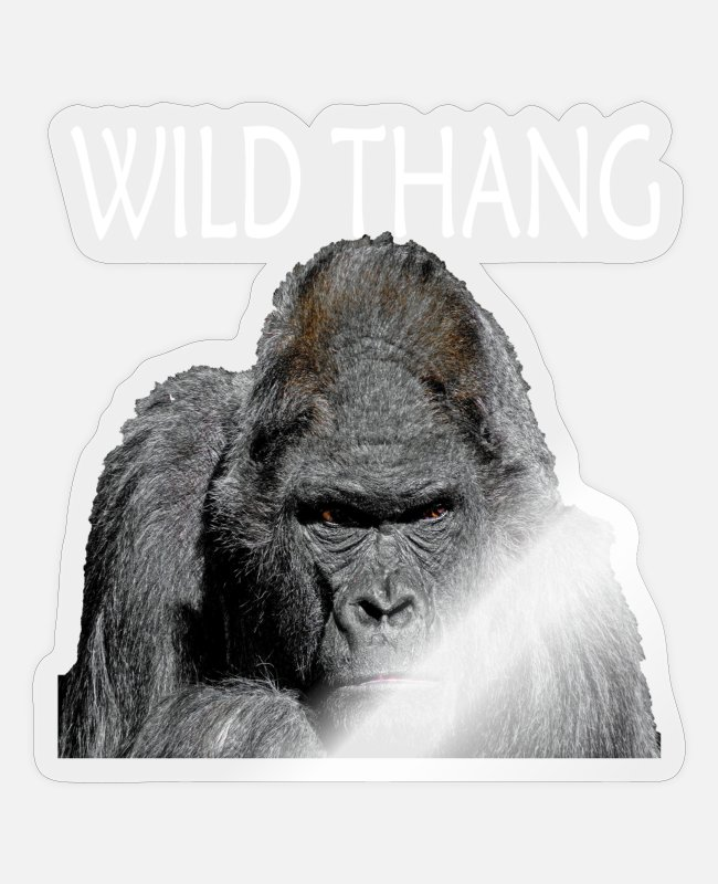 New York Stickers - GORILLA 2 WILD THANG - Sticker transparent glossy