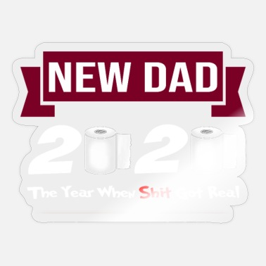 New Father New Dad 2020 Quarantined Gift for a New Father - Sticker