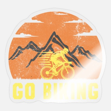 To Go Biking Go Biking Biking Cycling - Sticker