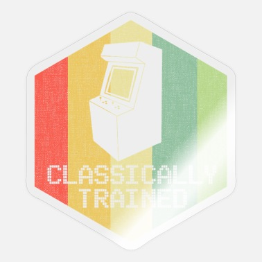 Classic Game Classically Trained Gamer Vintage Retro Gaming 80s - Sticker