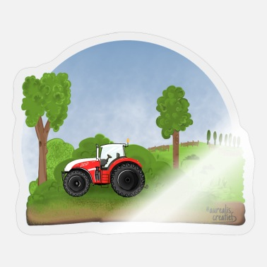 Heavy Duty Truck Red tractor - Sticker
