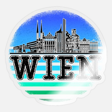Danube Vienna Skyline City Trip Austria - Sticker