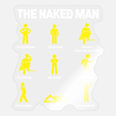 Flirt Naked man Single Man flirting Sexy Thinker Flirt - Sticker