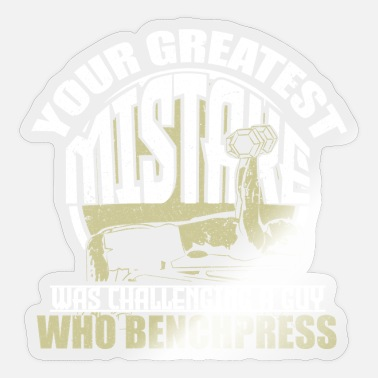 Power Press Bench press fitness - Sticker