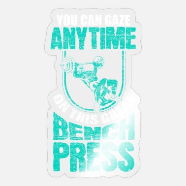 Power Press Bench press Gym - Sticker
