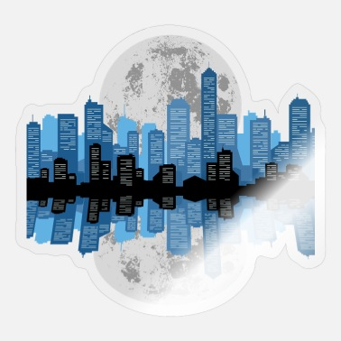 Cityscape Cityscape Reflection - Sticker