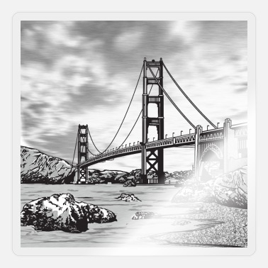 Golden Gate Golden Gate Bridge - Sticker