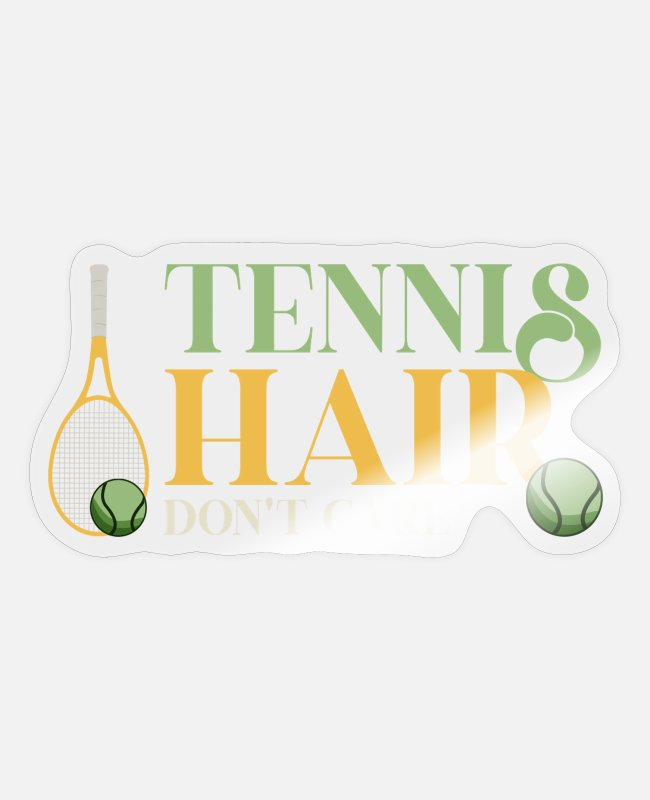 Tennis Stickers - tennis, tennis player, tennis coach - Sticker transparent glossy