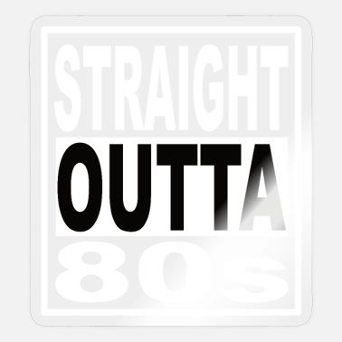 80s 80s 80s Clothing 80s Party 80s Fashion - Sticker