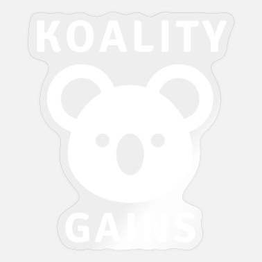 Calum Koality gains - Motivational Fitness Design - Sticker