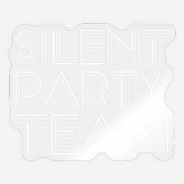 Silent Party Silent Party Team Parties Headphone Silent Disco - Sticker
