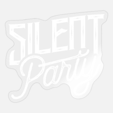 Silent Party Silent Party Silent Disco Dance Parties Headphone - Sticker