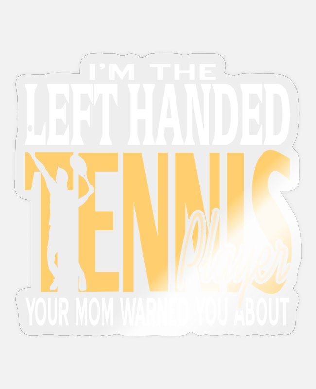 For Mom Stickers - Tennis - Sticker transparent glossy
