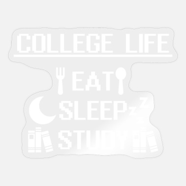 Student Life College Student / College Life Funny - Sticker