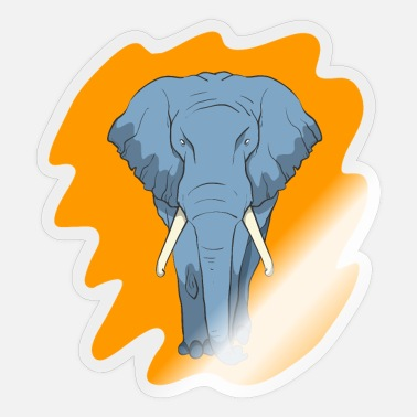 Tusk Elephant with tusks - Sticker