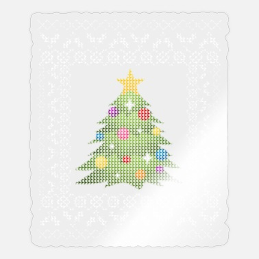 Ugly Xmas Sweater with Christmas Tree Santa Claus - Sticker