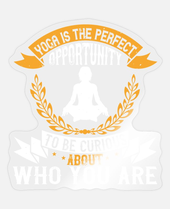 Inspiration Stickers - Yoga Quote - Opportunity - Sticker transparent glossy