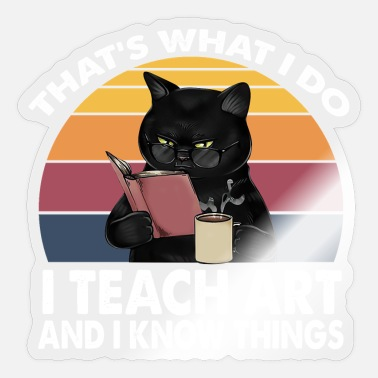 Read Books Know Things Cute Cat That Is What I Do Read Books Know Things - Sticker