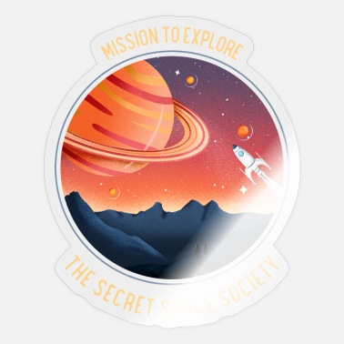 Secret Society Mission to Explore, The Secret Space Society - Sticker