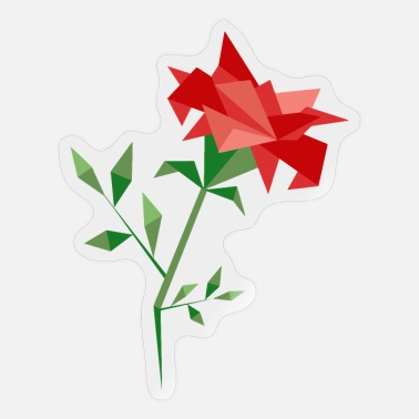 Origami Origami Flower Polygon Rose - Sticker