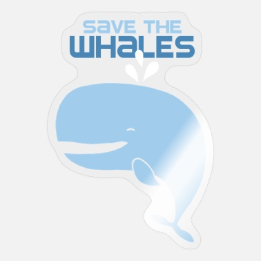 Save The World Save The Whales - Sticker