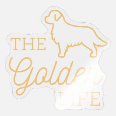 Golden Cut Golden Dog - Sticker