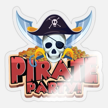 Pirate Party pirate party - Sticker