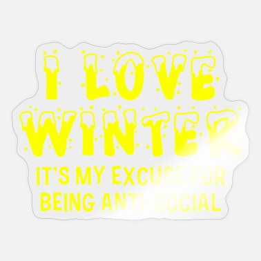 Bank I LOVE WINTER - Sticker