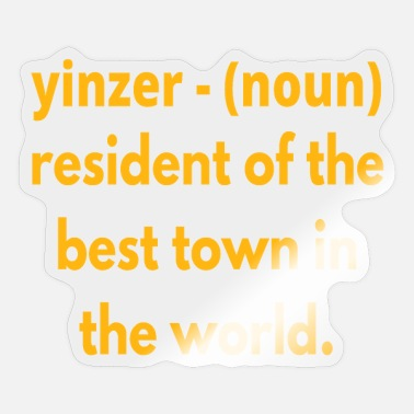 Geraud Yinzer Pittsburgh Yinz Definition Funny 412 - Sticker