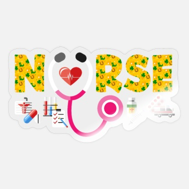 Hospital St. Patrick's Day hospital nursing - Sticker