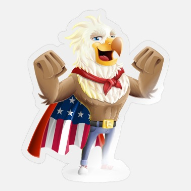 Eagle American Eagle Vector Character - Sticker