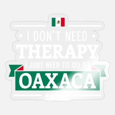 Central Mexico OAXACA THERAPY MEXICO FLAG TRAVEL GIFT IDEA - Sticker