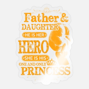 Father And Daughter father and daughter - Sticker