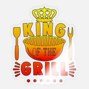 Grill King of the Grill Barbecue Master Season Gift - Sticker