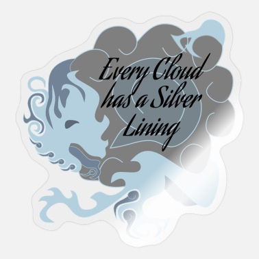 Every Cloud has a Silver Lining Chinese Dragon - Sticker